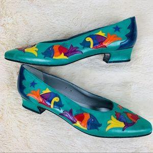 Vintage 1980s Margaret Jerrold Novelty Fish Shoes